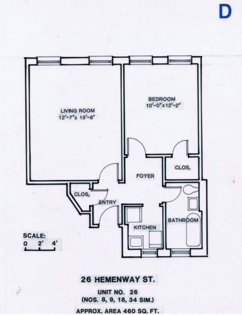 1 Bedroom, Fenway Rental in Boston, MA for $2,660 - Photo 1