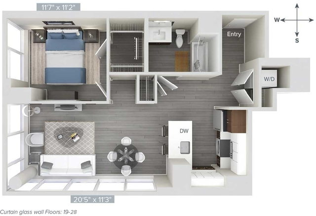 1 Bedroom, Downtown Boston Rental in Boston, MA for $4,110 - Photo 1
