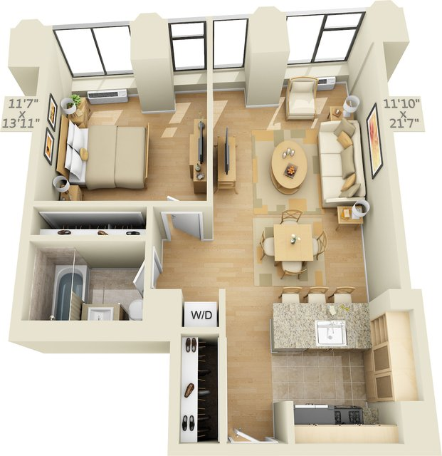 1 Bedroom, Financial District Rental in NYC for $3,329 - Photo 1