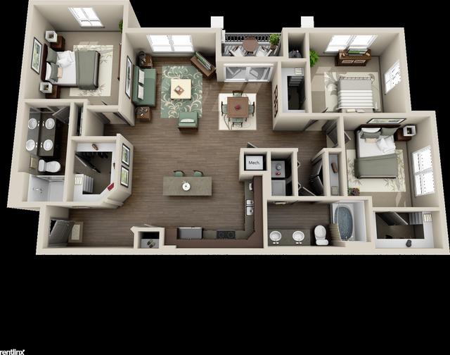 3 Bedrooms, Grogan's Mill Rental in Houston for $1,750 - Photo 1