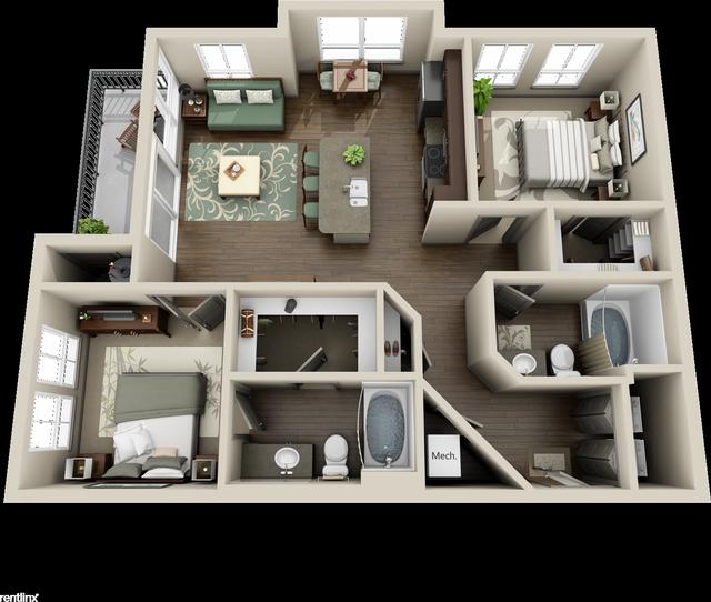 2 Bedrooms, Grogan's Mill Rental in Houston for $1,375 - Photo 1
