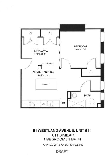 1 Bedroom, Fenway Rental in Boston, MA for $2,755 - Photo 1