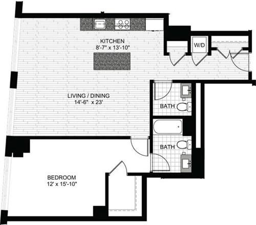 1 Bedroom, Downtown Boston Rental in Boston, MA for $3,810 - Photo 1