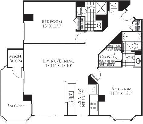 2 Bedrooms, Bethesda Rental in Washington, DC for $2,810 - Photo 1
