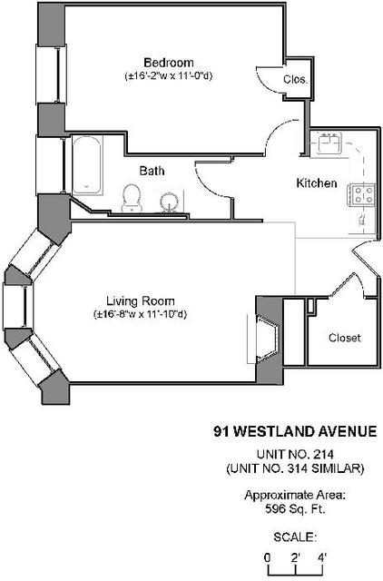 1 Bedroom, Fenway Rental in Boston, MA for $2,625 - Photo 1