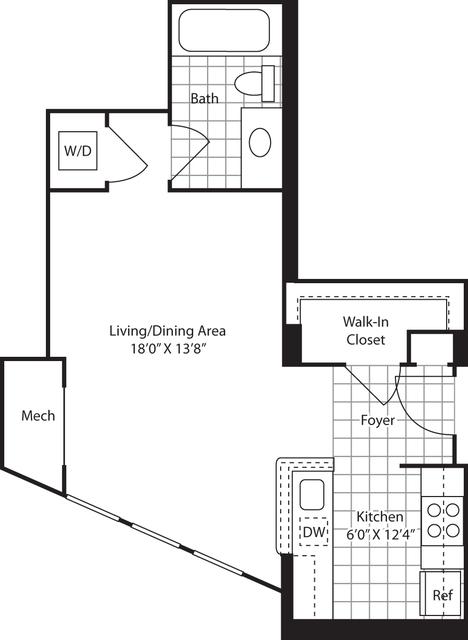 Studio, Downtown - Penn Quarter - Chinatown Rental in Washington, DC for $2,580 - Photo 1