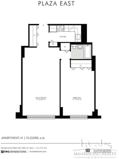 Studio, Kips Bay Rental in NYC for $3,110 - Photo 1