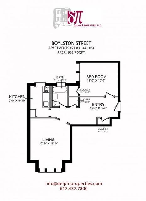 1 Bedroom, West Fens Rental in Boston, MA for $2,100 - Photo 1
