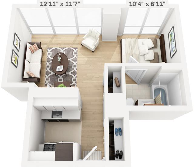 Studio, Manhattan Valley Rental in NYC for $3,456 - Photo 1