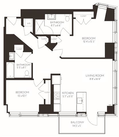 2 Bedrooms, Seaport District Rental in Boston, MA for $6,188 - Photo 1