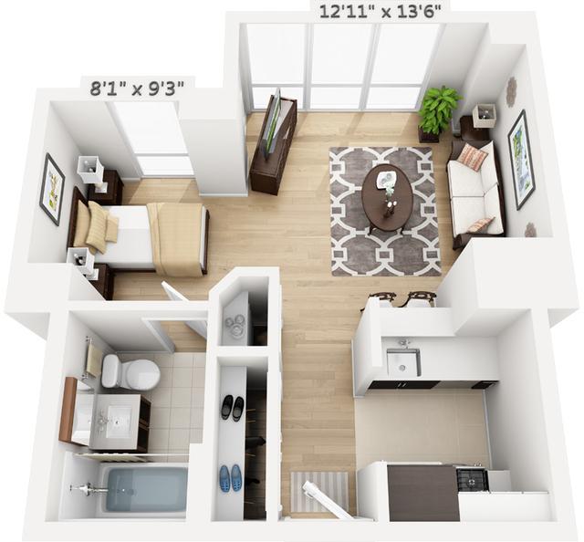 Studio, Manhattan Valley Rental in NYC for $3,292 - Photo 1