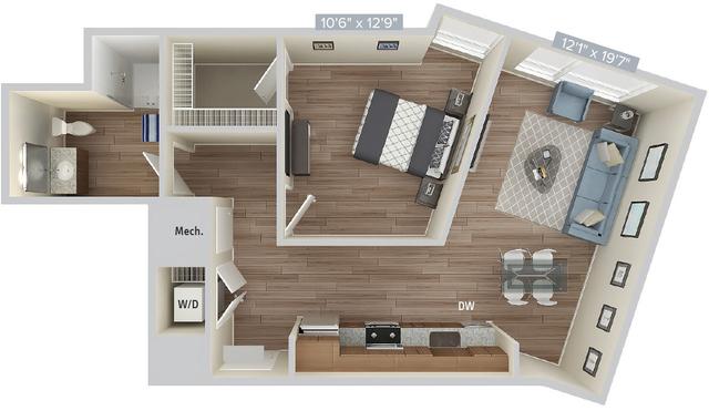 1 Bedroom, Natick Rental in Boston, MA for $3,255 - Photo 1