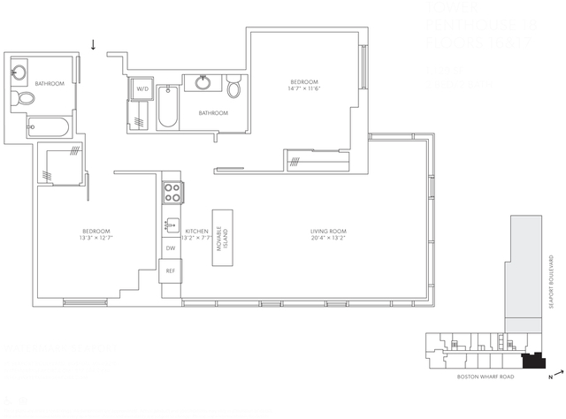2 Bedrooms, Seaport District Rental in Boston, MA for $7,943 - Photo 1