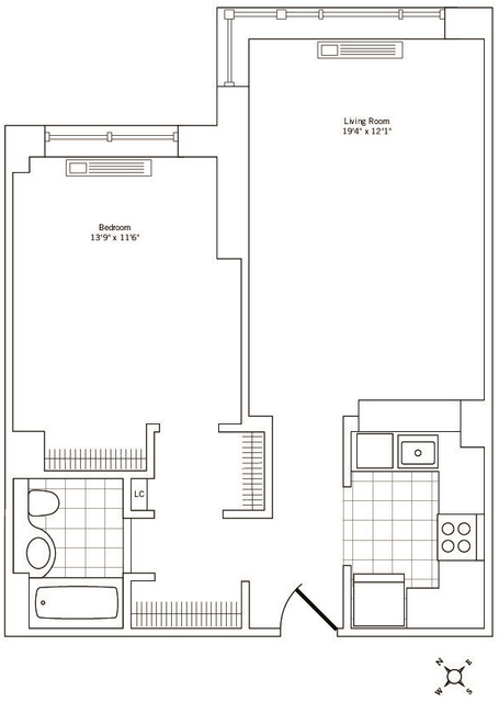 1 Bedroom, Rose Hill Rental in NYC for $3,876 - Photo 1