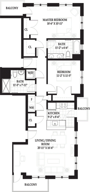 2 Bedrooms, West End Rental in Boston, MA for $4,395 - Photo 1
