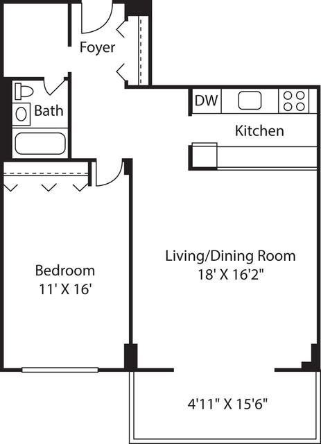 1 Bedroom, Downtown Boston Rental in Boston, MA for $2,770 - Photo 1