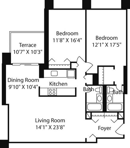 2 Bedrooms, Downtown Boston Rental in Boston, MA for $3,930 - Photo 1