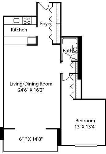 1 Bedroom, Downtown Boston Rental in Boston, MA for $3,095 - Photo 1
