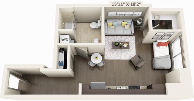 Studio, Seaport District Rental in Boston, MA for $2,696 - Photo 1