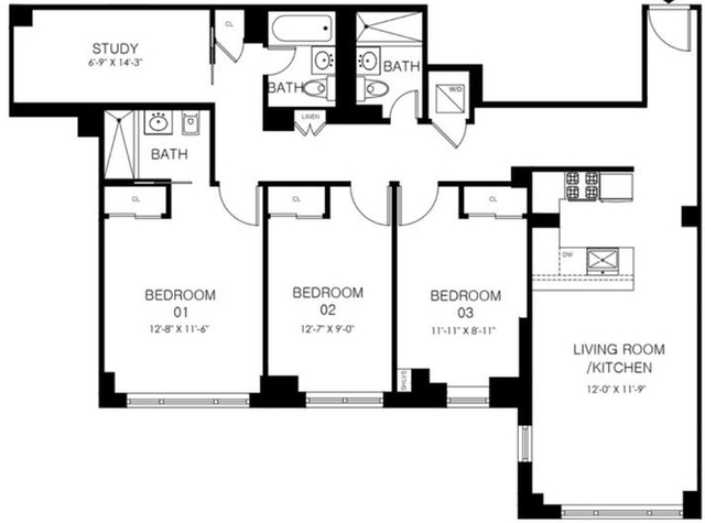 3 Bedrooms, Manhattan Valley Rental in NYC for $7,237 - Photo 1