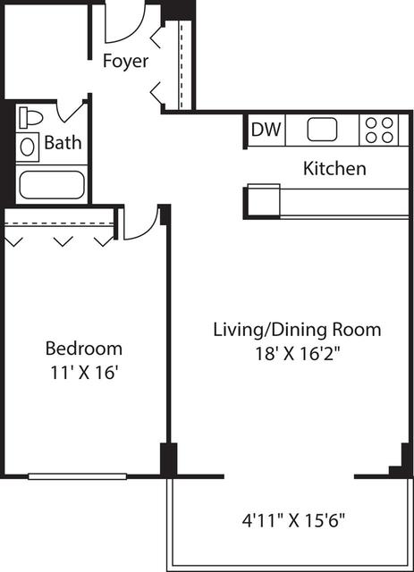 1 Bedroom, Downtown Boston Rental in Boston, MA for $2,810 - Photo 1