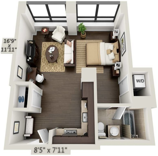 Studio, Financial District Rental in NYC for $3,503 - Photo 1