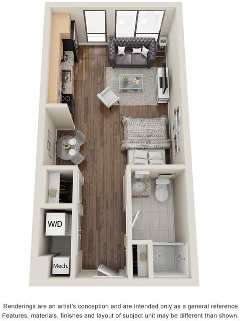 Studio, Seaport District Rental in Boston, MA for $2,610 - Photo 1