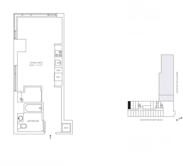 Studio, Seaport District Rental in Boston, MA for $3,022 - Photo 1