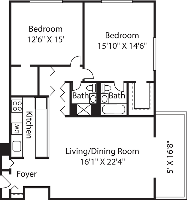 2 Bedrooms, Downtown Boston Rental in Boston, MA for $3,920 - Photo 1