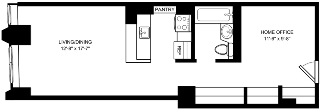 Studio, Financial District Rental in NYC for $3,521 - Photo 1