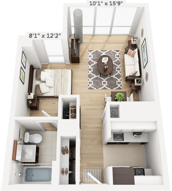 Studio, Manhattan Valley Rental in NYC for $4,441 - Photo 1