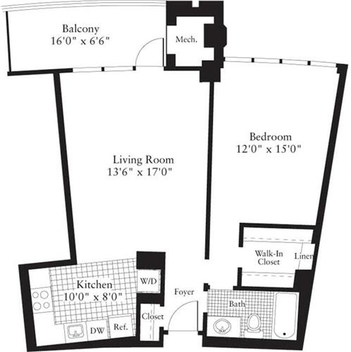 1 Bedroom, Crystal City Shops Rental in Washington, DC for $2,343 - Photo 1