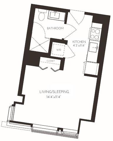 Studio, Seaport District Rental in Boston, MA for $2,702 - Photo 1