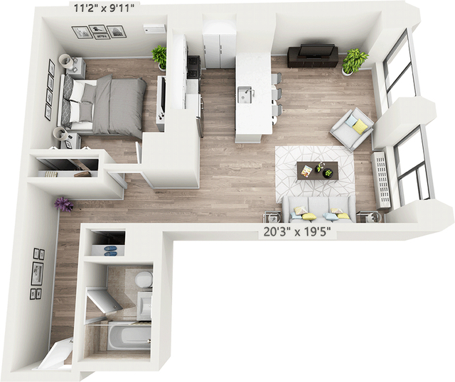 Studio, Financial District Rental in NYC for $4,006 - Photo 1