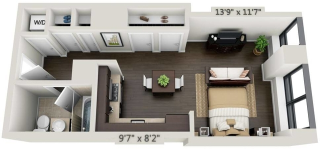 Studio, Financial District Rental in NYC for $3,065 - Photo 1