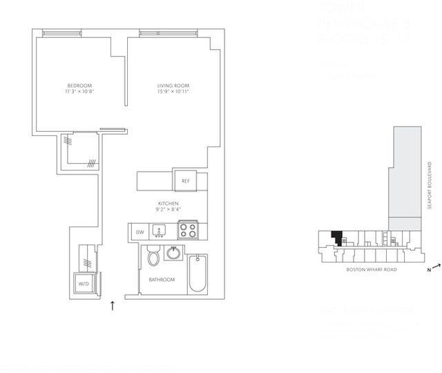 1 Bedroom, Seaport District Rental in Boston, MA for $3,987 - Photo 1