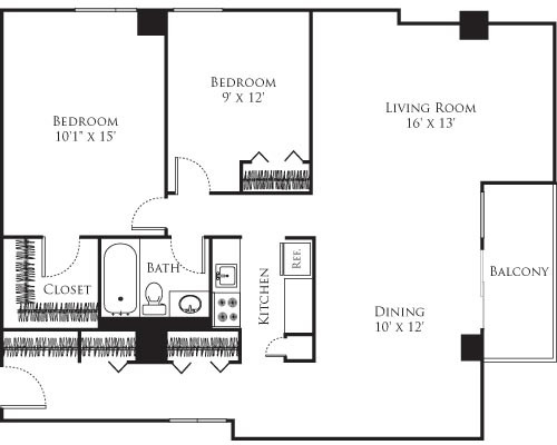 2 Bedrooms, Riverside Rental in Boston, MA for $3,420 - Photo 1