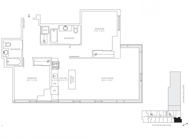 2 Bedrooms, Seaport District Rental in Boston, MA for $7,091 - Photo 1