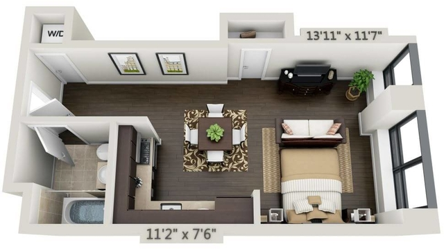 Studio, Financial District Rental in NYC for $3,030 - Photo 1