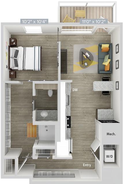 1 Bedroom, Natick Rental in Boston, MA for $3,110 - Photo 1