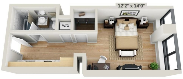Studio, Financial District Rental in NYC for $3,376 - Photo 1