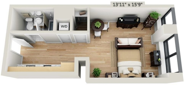 Studio, Financial District Rental in NYC for $3,361 - Photo 1