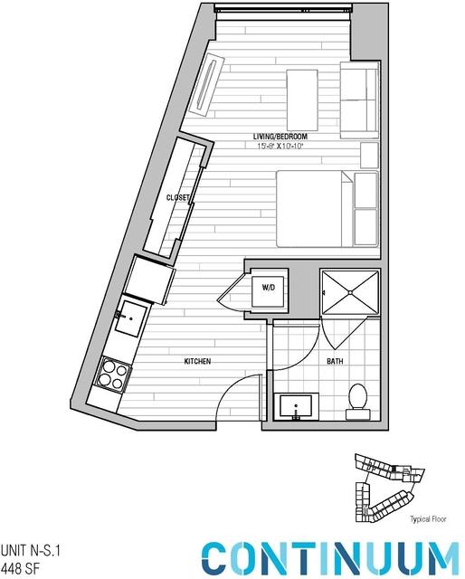 Studio, North Allston Rental in Boston, MA for $2,868 - Photo 1