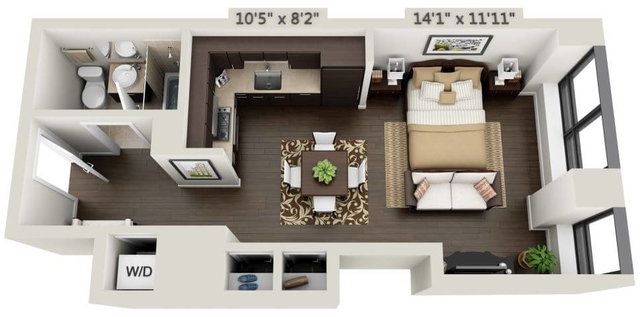 Studio, Financial District Rental in NYC for $3,035 - Photo 1