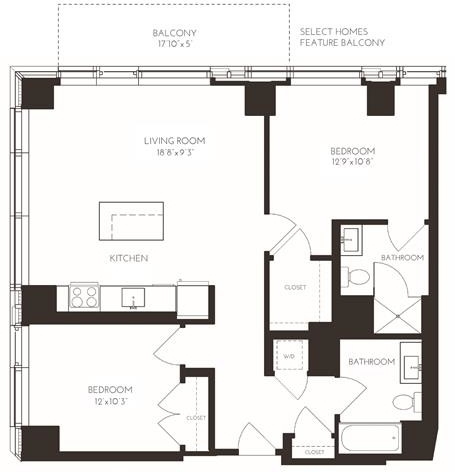 2 Bedrooms, Seaport District Rental in Boston, MA for $5,268 - Photo 1