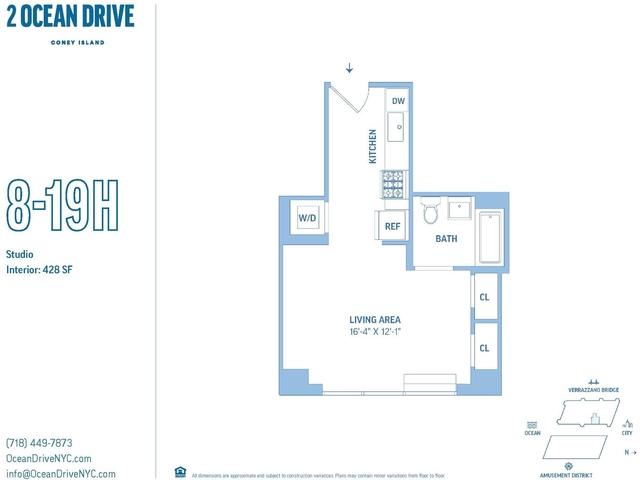 Studio, Coney Island Rental in NYC for $1,609 - Photo 1