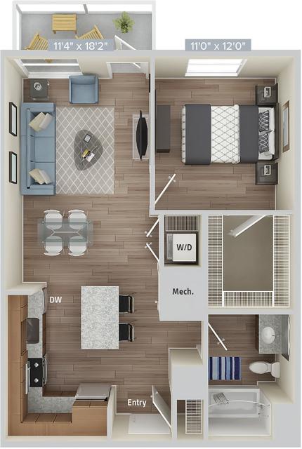 1 Bedroom, Natick Rental in Boston, MA for $3,380 - Photo 1