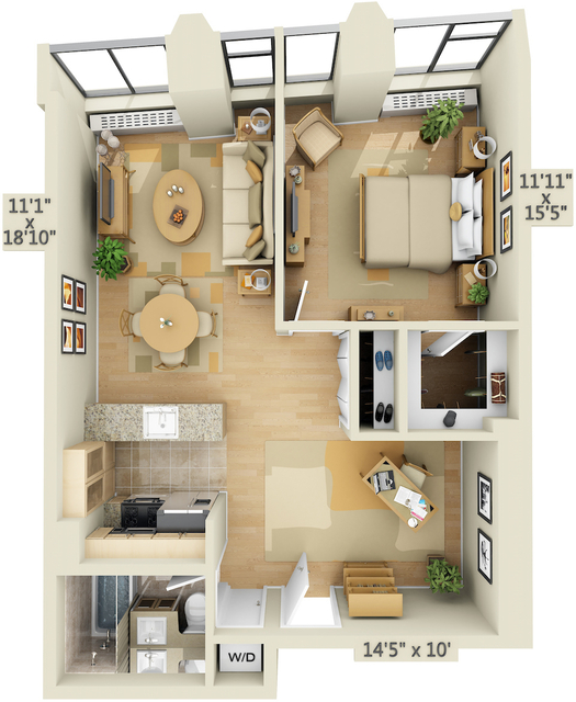 1 Bedroom, Financial District Rental in NYC for $4,681 - Photo 1