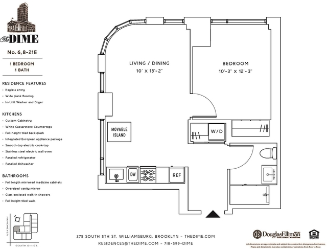1 Bedroom, Williamsburg Rental in NYC for $4,406 - Photo 1