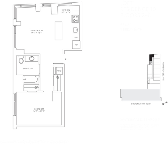 1 Bedroom, Seaport District Rental in Boston, MA for $3,831 - Photo 1